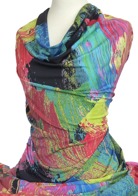 Knitwit Mimi Printed Knit Bright Multicolour