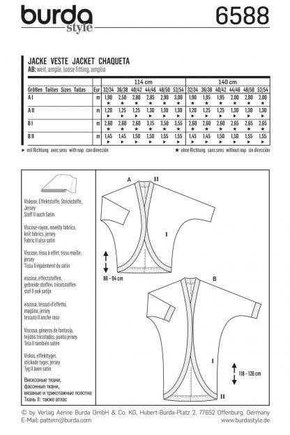 Burda Pattern 6588 Back