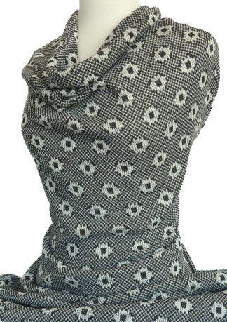 Knitwit Natasha Italian Jacquard Knit Black White