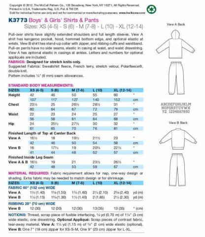 Kwik Sew Pattern 6773 Back