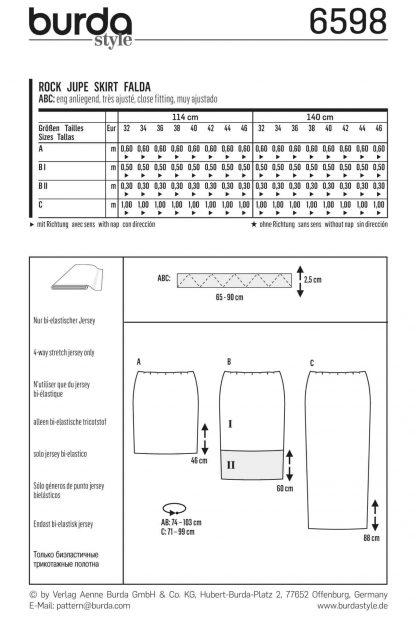 Burda Pattern 6598 Back