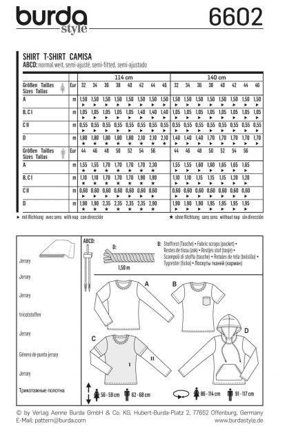 Burda Pattern 6602 Back