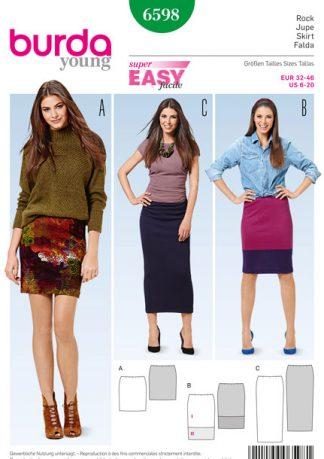 Burda-Young-6598-Skirt