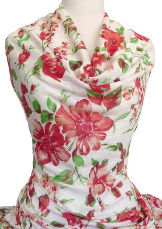 Knitwit Printed Cotton Jersey Rosella Floral