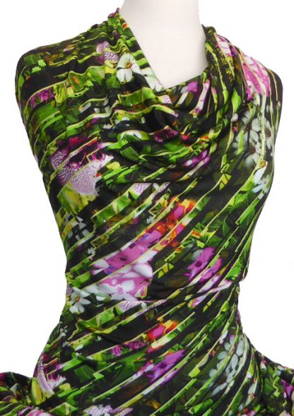 Knitwit Printed Viscose Jersey Knit Orchid Diagonal
