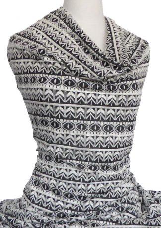 Jacquard-Knit-Seville-Black-White