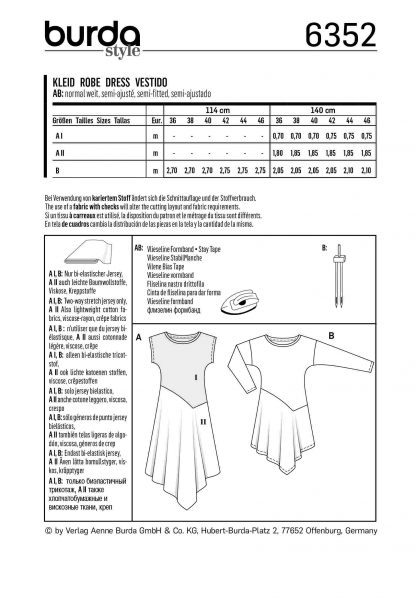 Burda Pattern 6352 Back
