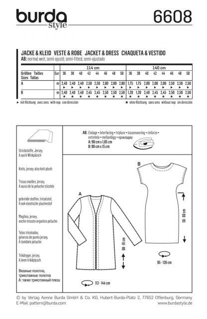 Burda Pattern 6608 Back