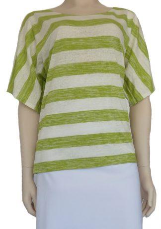 Burda 6850 - Linen Jersey Stripe Lime Green