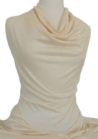 Italian Linen Jersey Knit Ivory