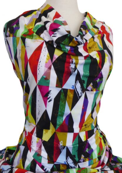 Knitwit Printed Cotton Jersey Harlequin
