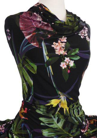 Knitwit Printed Jersey Knit Sumatra on Black