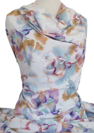 Knitwit Printed Cotton Jersey Petal Pastel