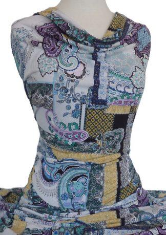Knitwit Printed Jersey Knit Paisley Frames