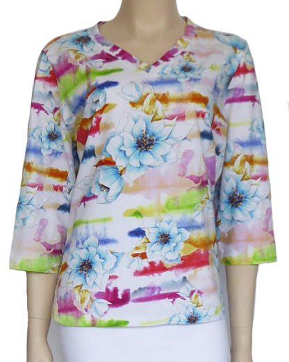 Kwik Sew Pattern 3766 - Knitwit Printed Cotton Jersey Bright Morning