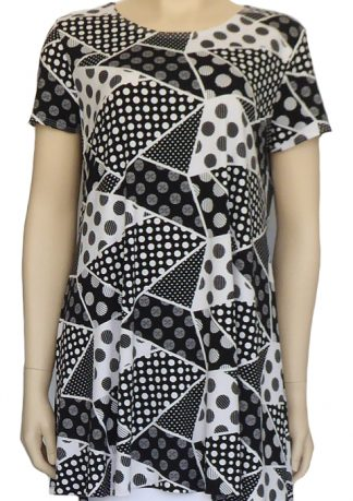New Look Pattern 6439 - Knitwit Printed Jersey Knit Checkers Black White