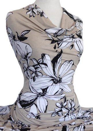 Printed Polyester Spandex Jersey Knit Fabrics