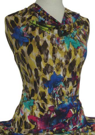 Printed Jersey Knit Amazon Animal