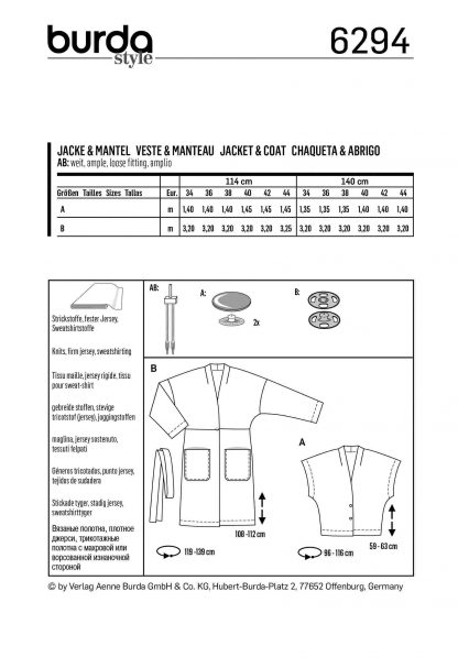 Burda Pattern 6294 Back