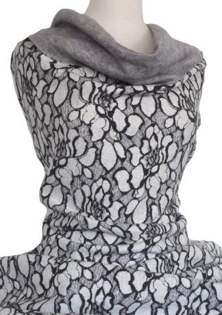 Vivienne Bonded Textured Knit Grey Black