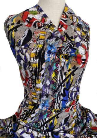 Printed Cotton Jersey Spectacle Multicolour
