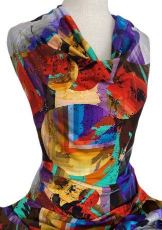 Printed Cotton Jersey Summertime Multicolour
